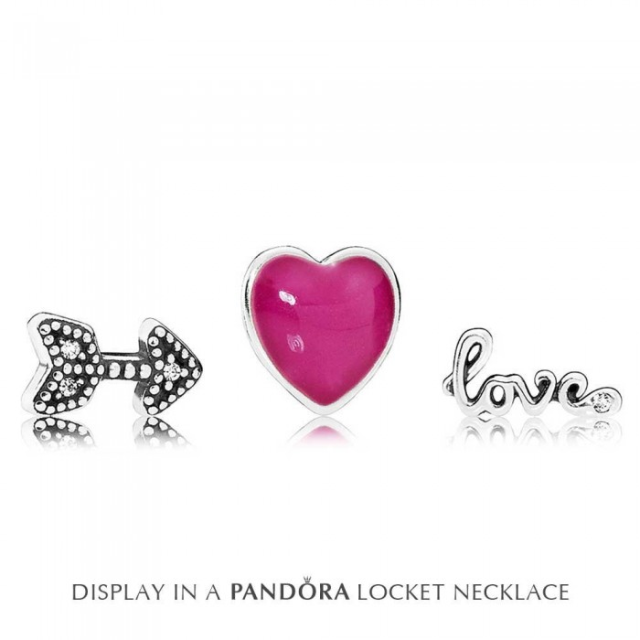 Pandora Charm Petite Memories Struck By Love Locket Sterling Silver Jewelry