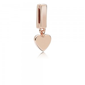Pandora Charm Reflexions Floating Heart Clip Rose Jewelry