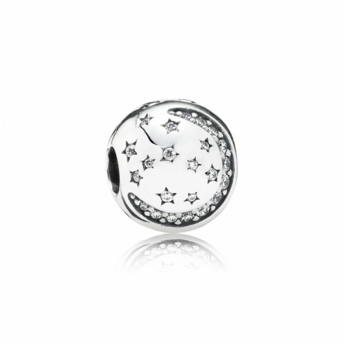 Pandora Charm Twinkling Night Clip Clear CZ Jewelry