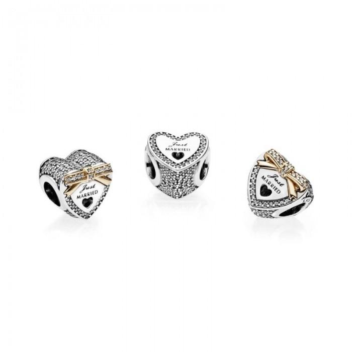Pandora Charm Wedding Heart Clear CZ Jewelry