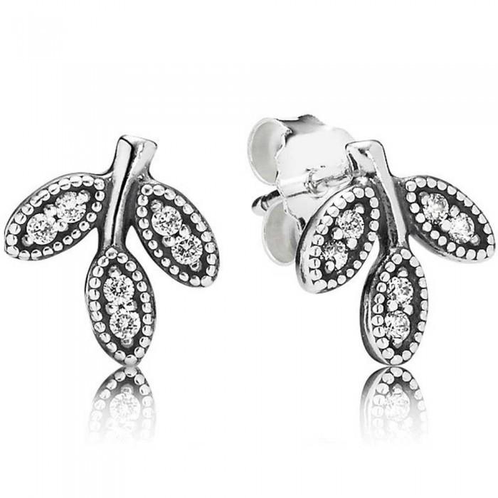 Pandora Earring Leafs Nature Stud Jewelry