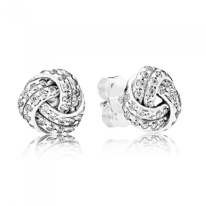 Pandora Earring Love Knots Stud Jewelry