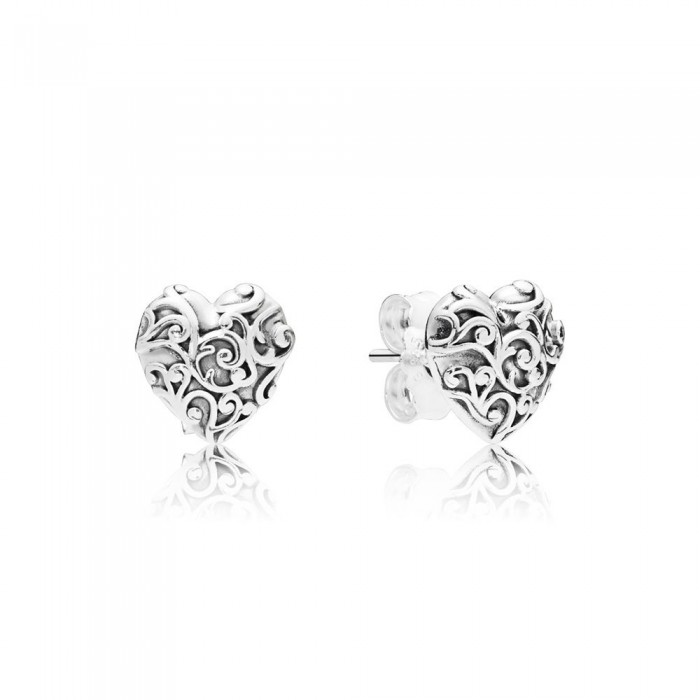 Pandora Earring Regal Hearts Jewelry