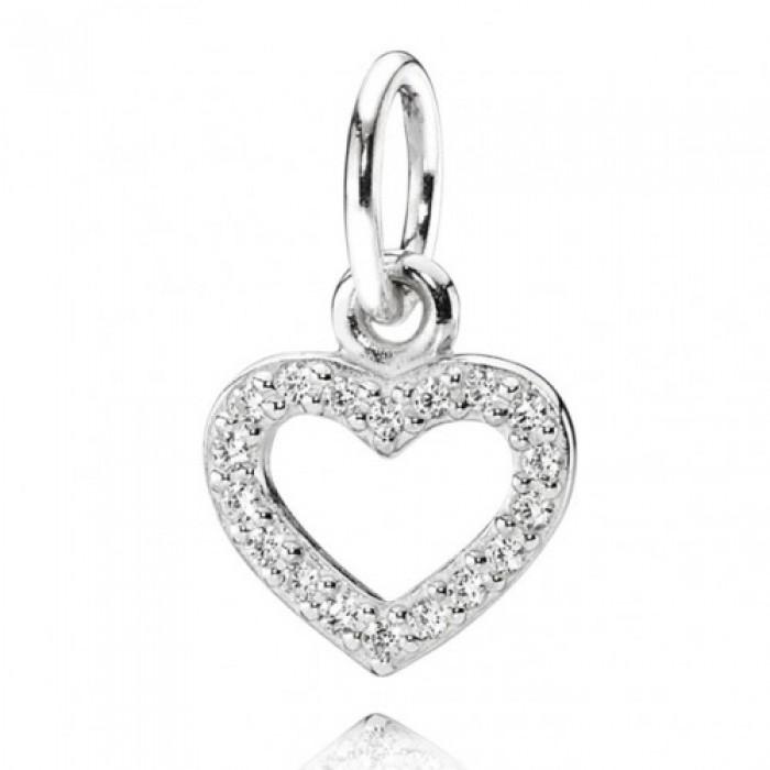 Pandora Necklace Open Heart Love Pendant Jewelry