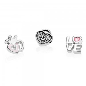 Pandora Necklace Petite Memories Medium Loving Hearts Love Locket Jewelry