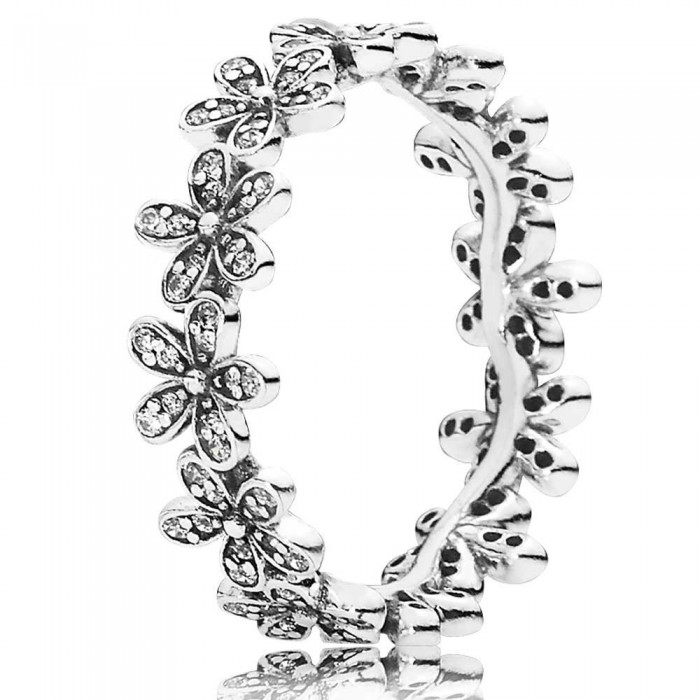 Pandora Ring Daisy Band Floral Jewelry