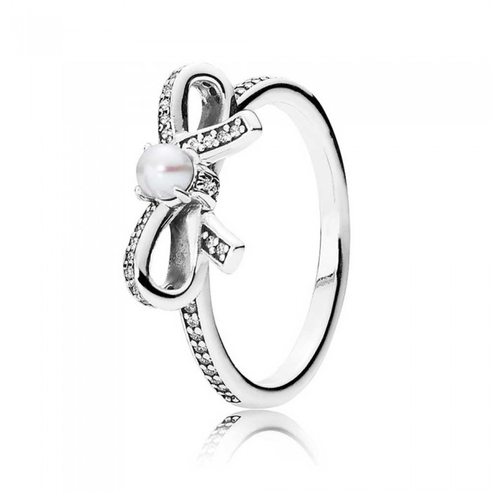 Pandora Ring Delicate Sentiments Pearl Bow Bows Jewelry