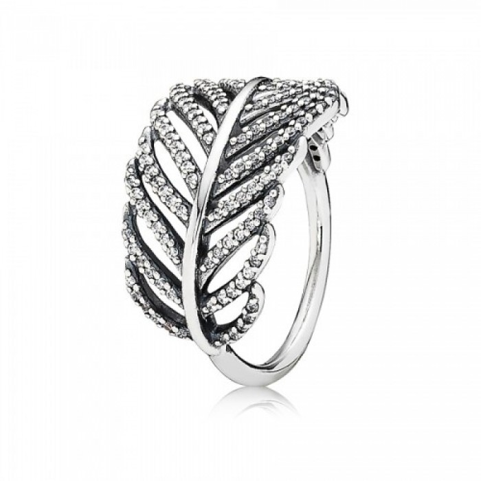 Pandora Ring Feather Micro Feather Silver Jewelry