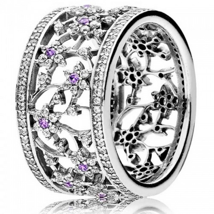 Pandora Ring Forget Me Not Floral G485 Jewelry