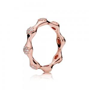 Pandora Ring Modern LovePods Rose Clear CZ Jewelry