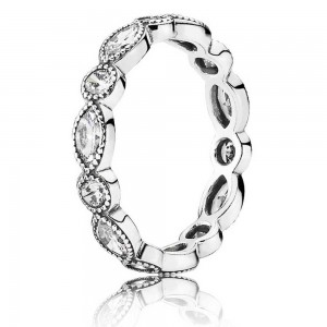 Pandora Ring Round Oval Eternity Jewelry