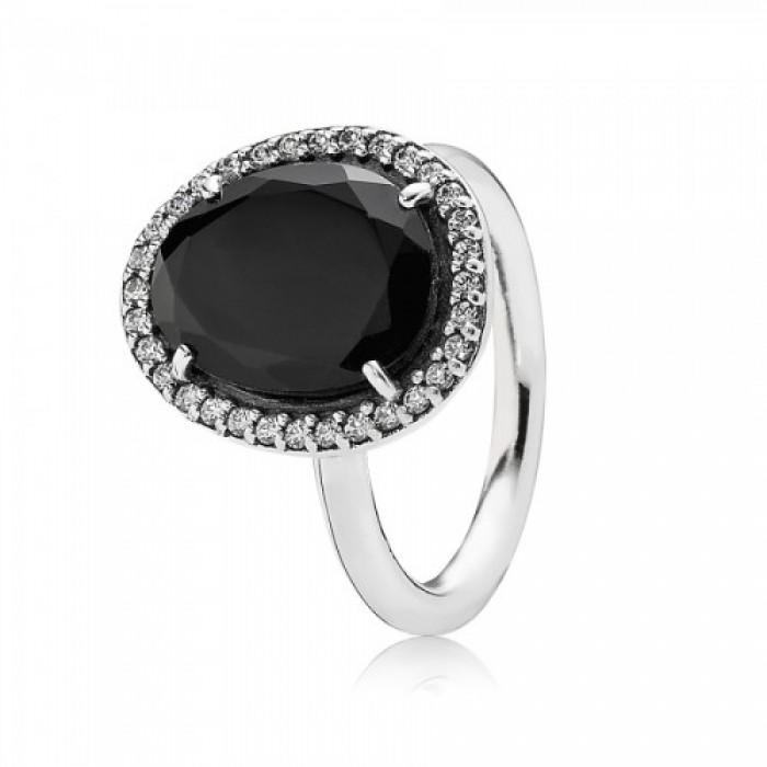 Pandora Ring Statement Black Spinel Jewelry