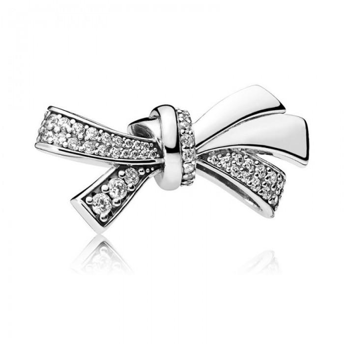 Pandora Charm Brilliant Bow Clear CZ Jewelry