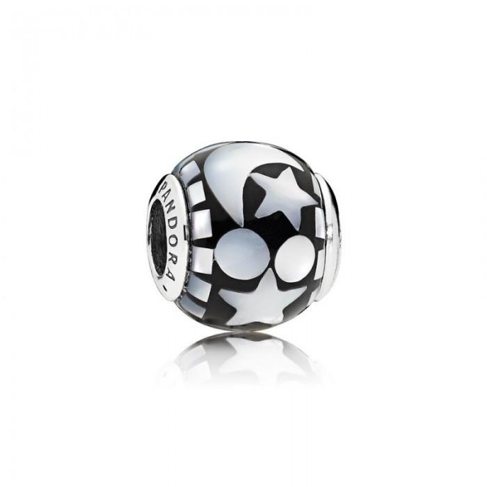 Pandora Charm Celestial Mosaic Black Acrylic Mother Pearl Jewelry