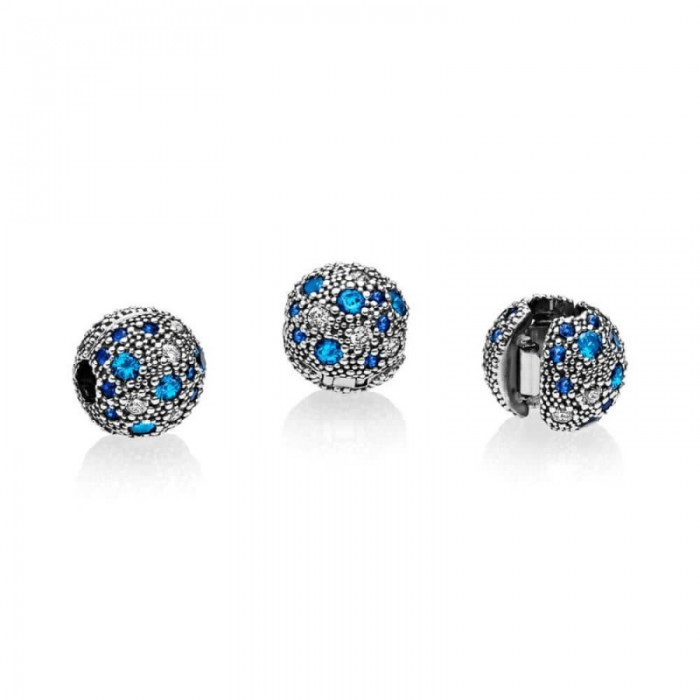 Pandora Charm Cosmic Stars Multi Colored Crystals Clear CZ Jewelry
