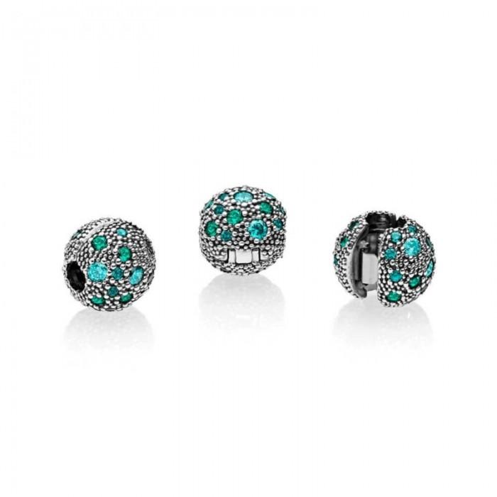 Sale Pandora Charm Cosmic Stars Multi Colored Crystals Teal CZ Jewelry
