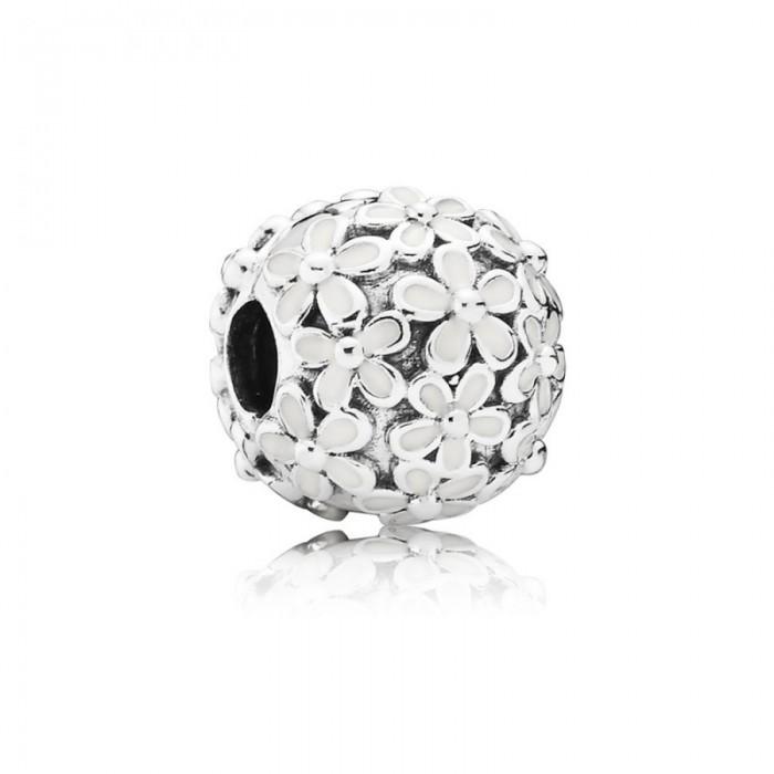 Pandora Charm Darling Daisy Meadow Clip White Enamel Jewelry