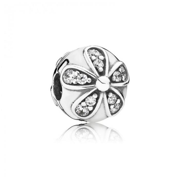 Pandora Charm Dazzling Daisies Clip Clear CZ Jewelry