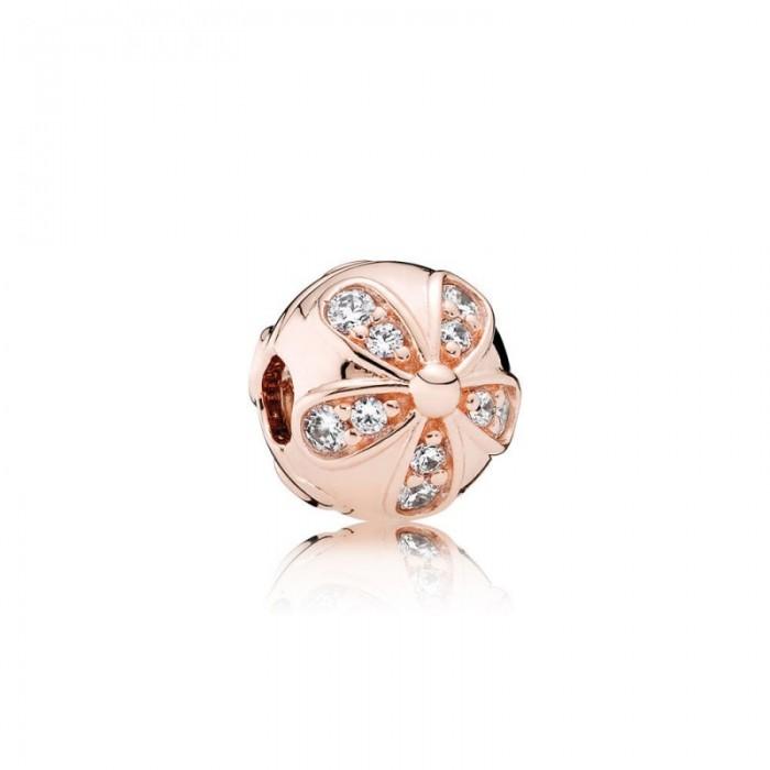 Pandora Charm Dazzling Daisies Clip Rose Clear CZ Jewelry