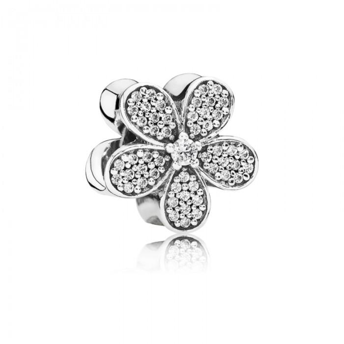 Pandora Charm Dazzling Daisy Clear CZ Jewelry