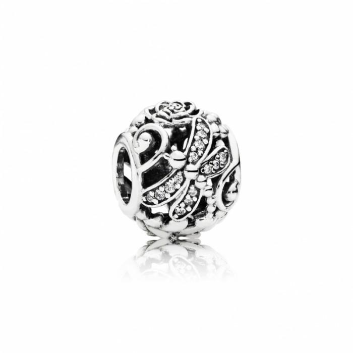 Pandora Charm Dragonfly Meadow Clear CZ Jewelry