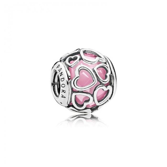 Pandora Charm Encased in Love Pink CZ Jewelry