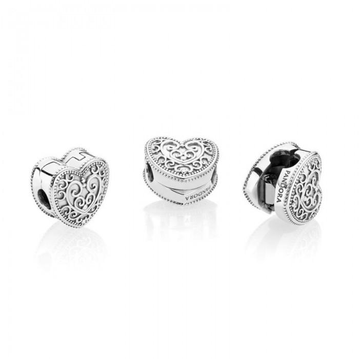 Pandora Charm Enchanted Heart Clip Jewelry