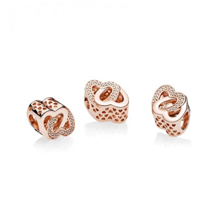 Pandora Charm Entwined Love Rose Clear CZ Jewelry
