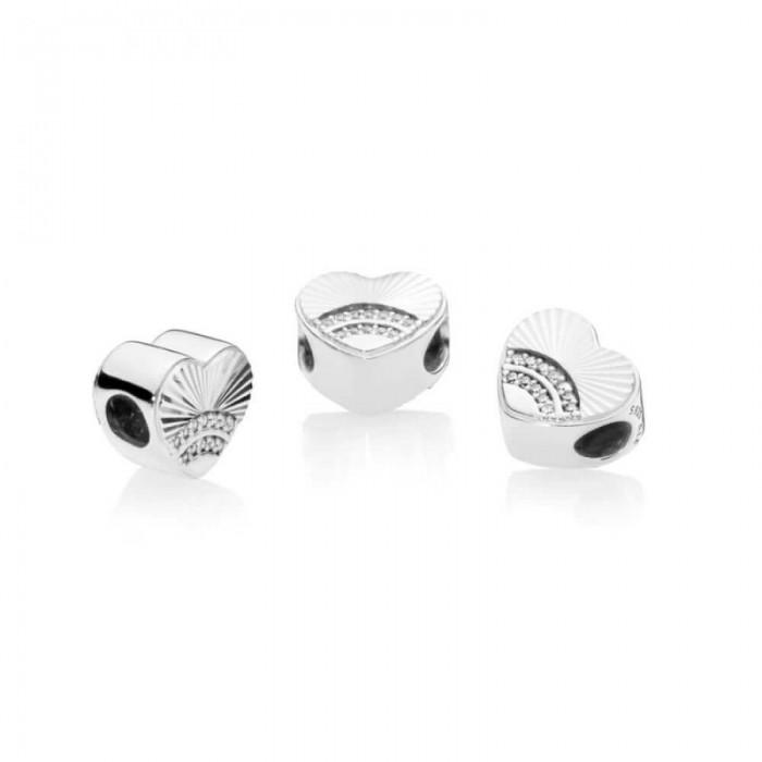 Pandora Charm Fan Love Clear CZ Jewelry