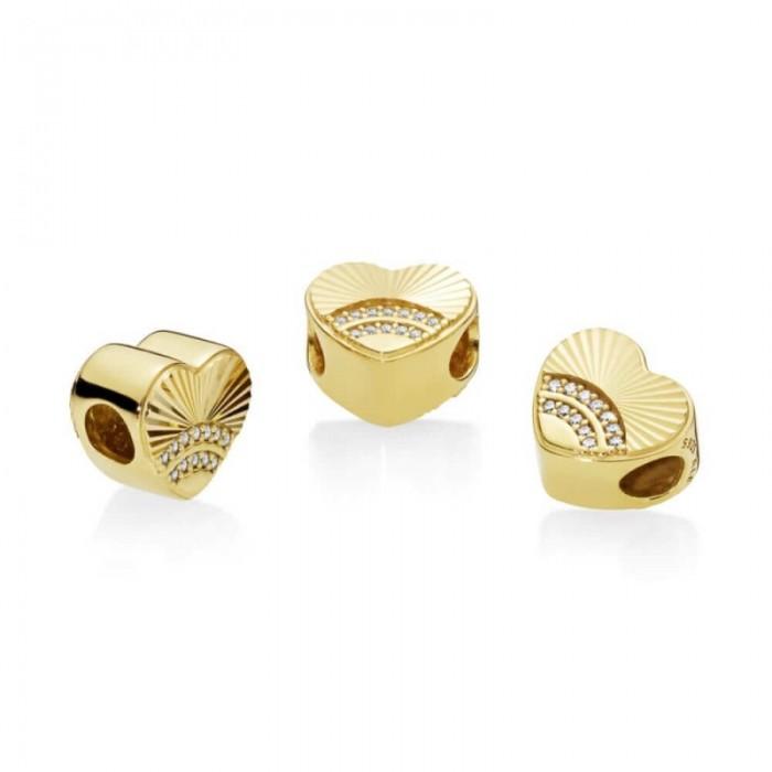 Pandora Charm Fan Love Shine Clear CZ Jewelry