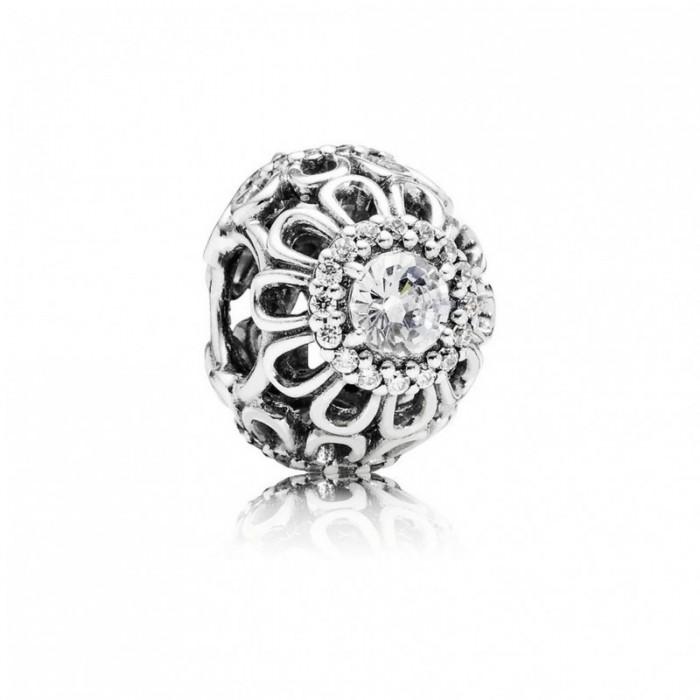Pandora Charm Floral Brilliance Clear CZ Jewelry