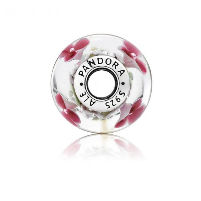 Pandora Charm Flower Garden Murano Glass Jewelry