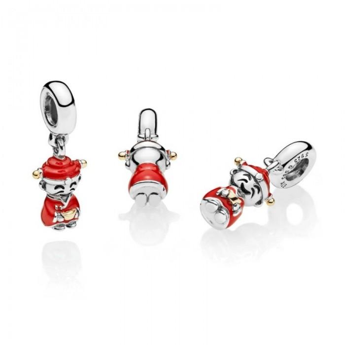 Pandora Charm Fortune Luck Dangle Red Black Enamel Jewelry