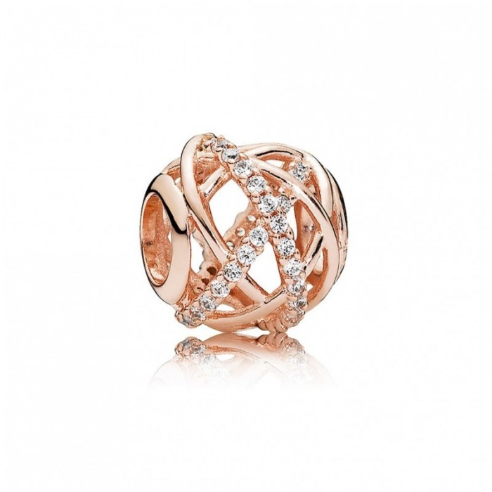Cheap Pandora Charm Galaxy Rose Clear CZ Jewelry