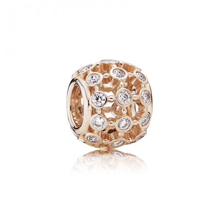 Pandora Charm In The Spotlight Rose Clear CZ Jewelry