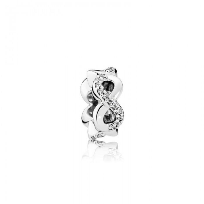 Pandora Charm Infinite Love Clear CZ Jewelry