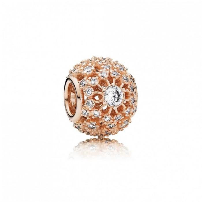 Pandora Charm Inner Radiance Rose Clear CZ Jewelry