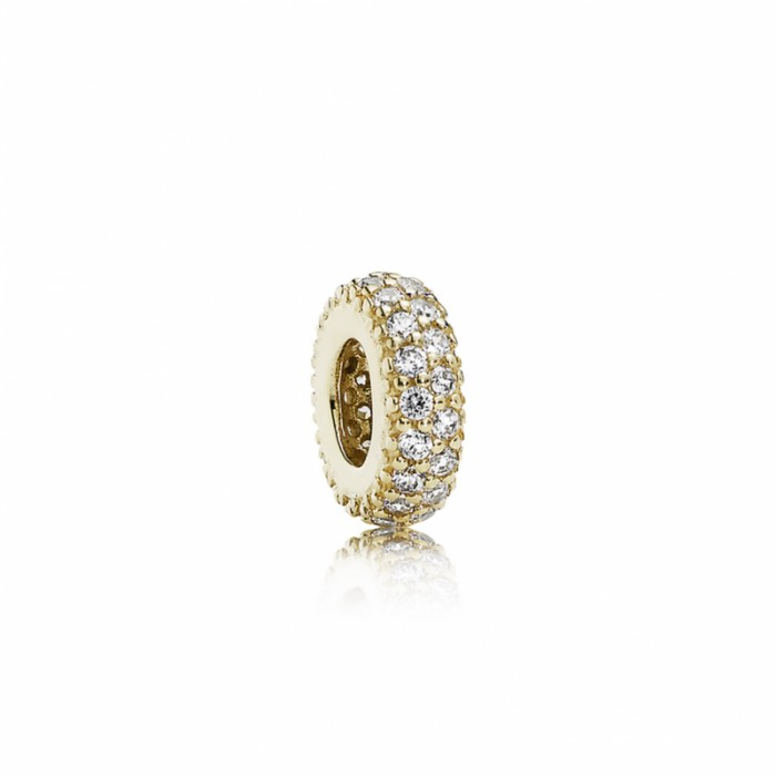 Pandora Charm Inspiration Within Spacer 14K Gold CZ Jewelry