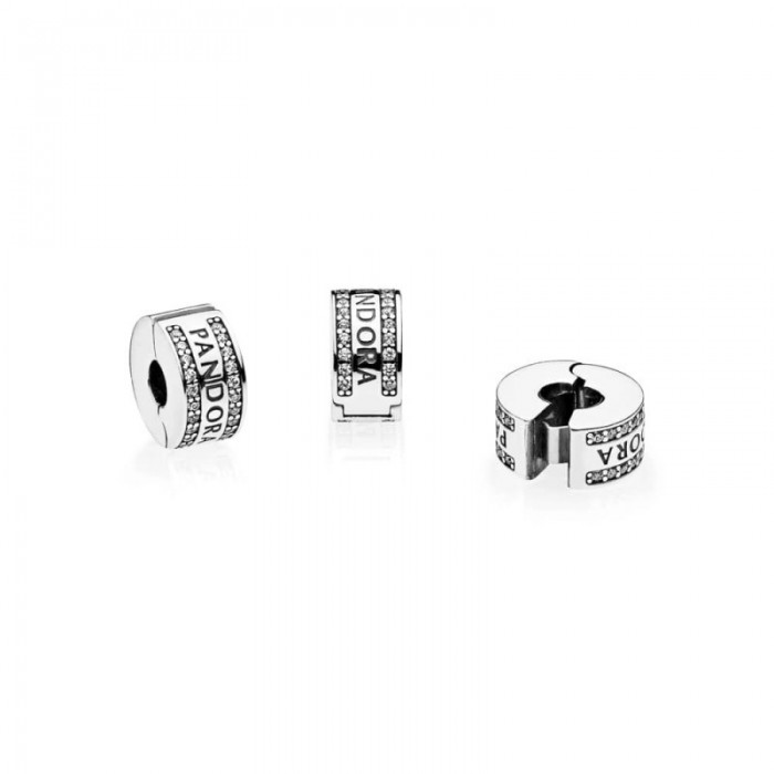 Pandora Charm Logo Clear CZ Jewelry