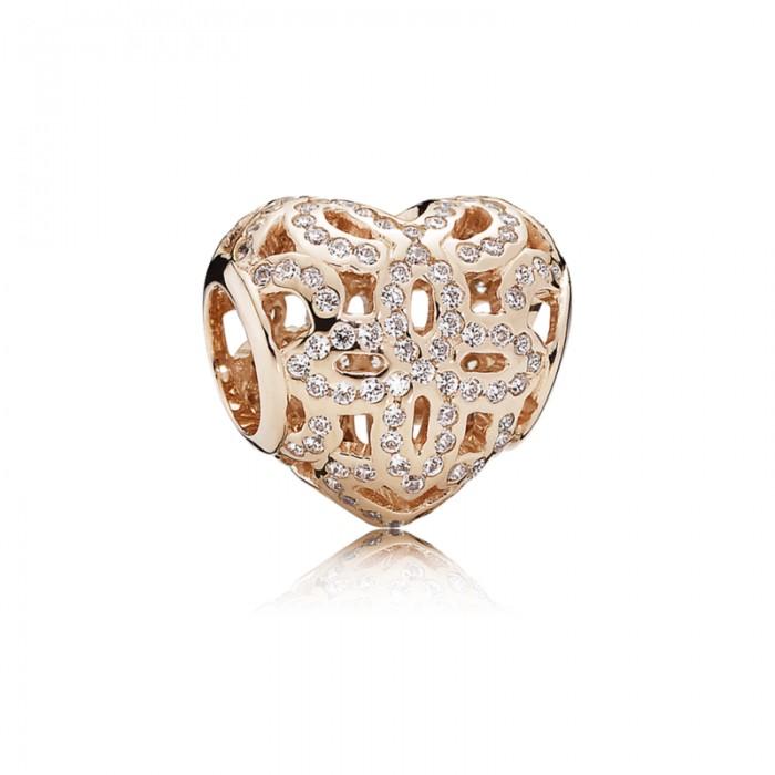Pandora Charm Love Appreciation Rose Clear CZ Jewelry