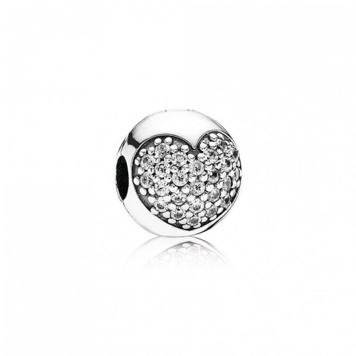 Pandora Charm Love My Life Clip Clear CZ Jewelry