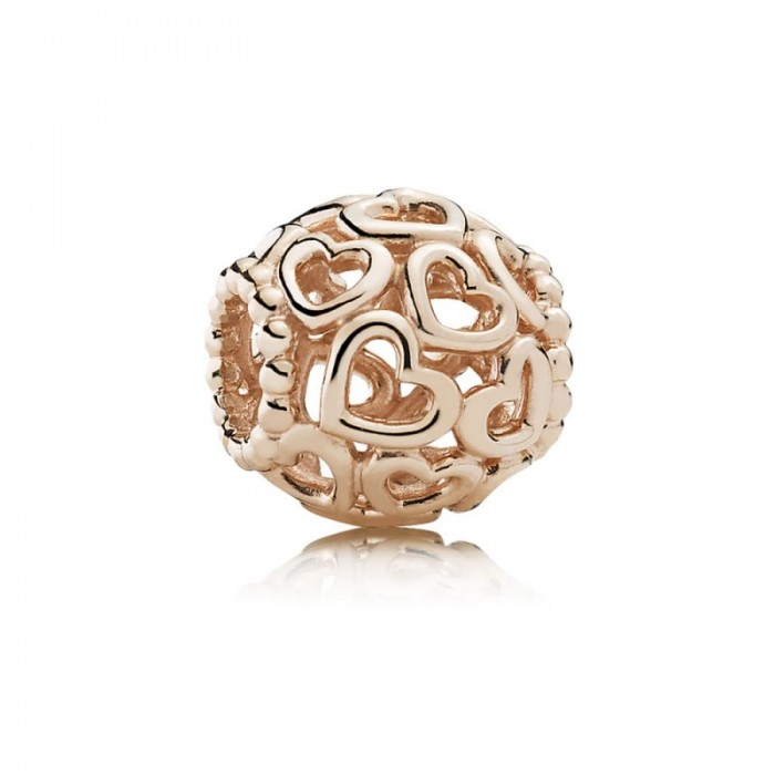 Pandora Charm Open Your Heart Filigree Rose Jewelry