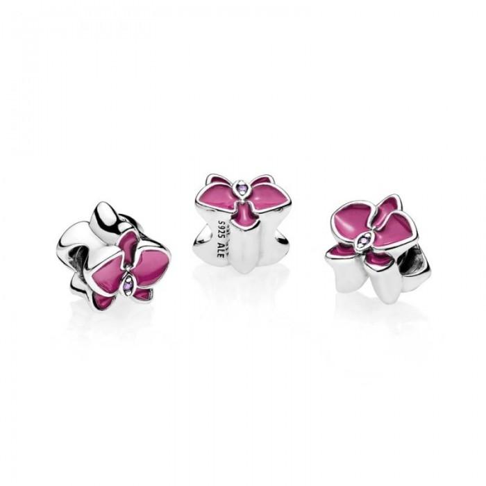 Pandora Charm Orchid Radiant Orchid Enamel Purple CZ Jewelry