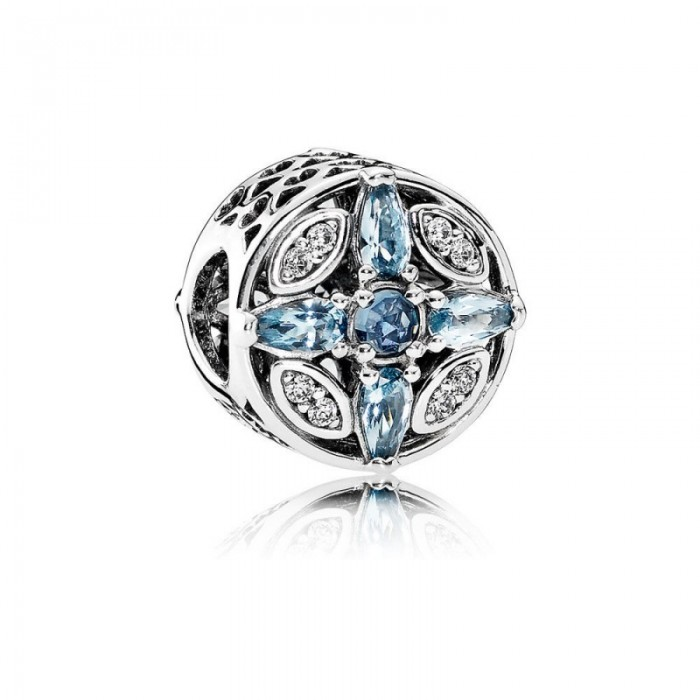 Pandora Charm Patterns Frost Multi Colored Crystal Clear CZ Jewelry