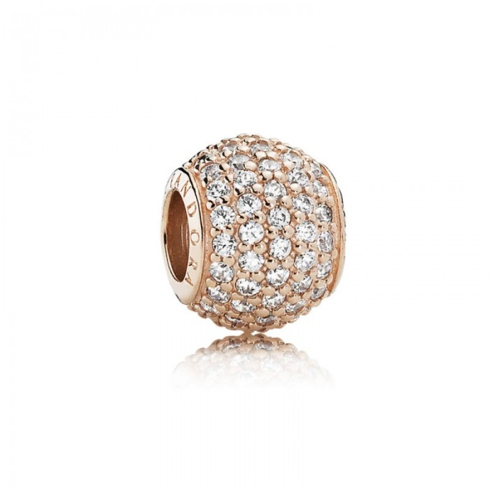 Pandora Charm Pave Lights Rose Clear CZ Jewelry