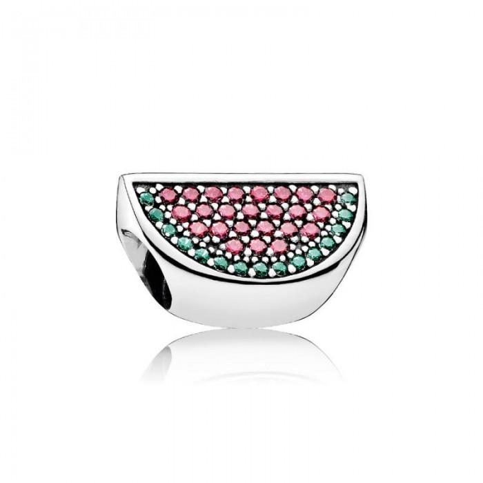 Pandora Charm Pave Watermelon Red Green CZ Jewelry