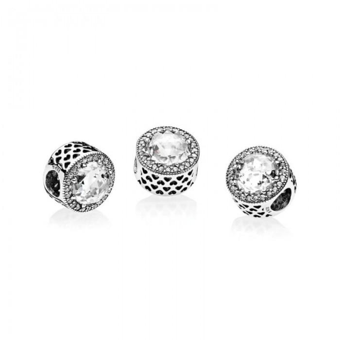 Pandora Charm Radiant Hearts Clear CZ Jewelry