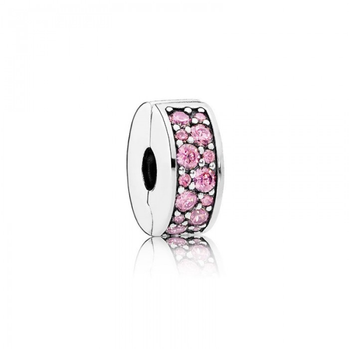 Pandora Charm Shining Elegance Clip Pink CZ Jewelry