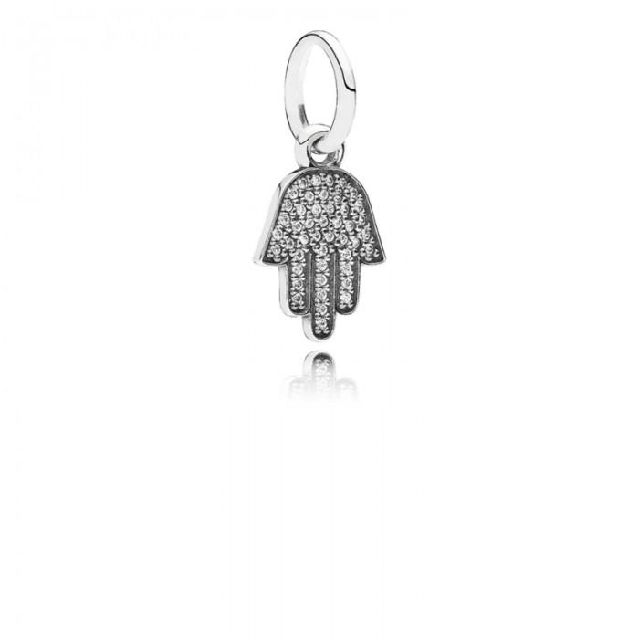 Pandora Charm Symbol Protection Dangle Clear CZ Jewelry