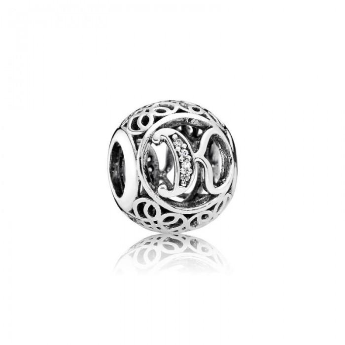 Pandora Charm Vintage K Clear CZ Jewelry